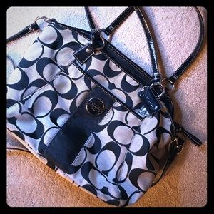 Coach logo hobo with long strap